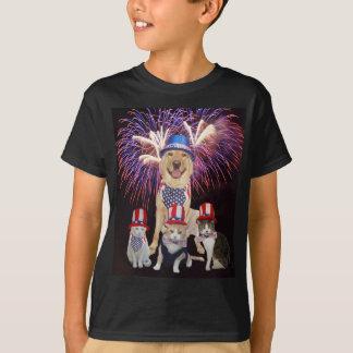 Grappige Hond & Katten 4 Juli T Shirt