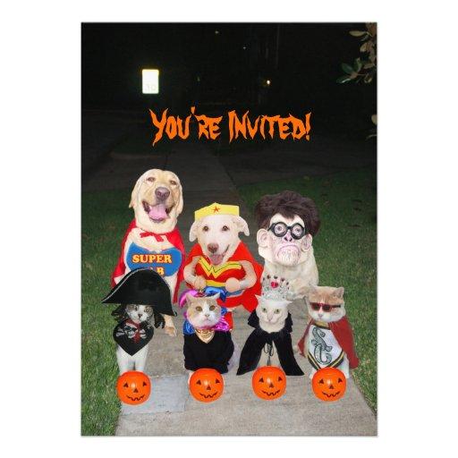 Grappige Honden & Katten Halloween Aankondigingen