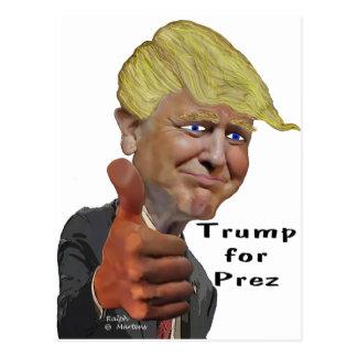Grappige humoristische het productTroef van Donald Briefkaart