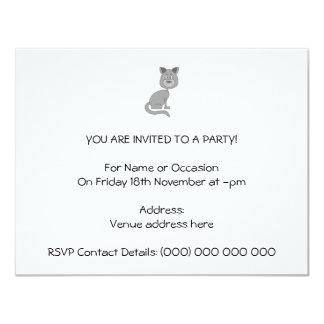 Grappige Kat 10,8x13,9 Uitnodiging Kaart