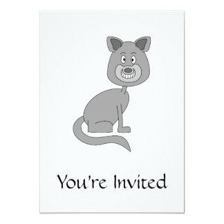 Grappige Kat 12,7x17,8 Uitnodiging Kaart
