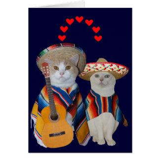 Grappige Kat Spaans Valentijn voor Echtgenoot Wenskaart