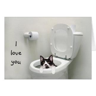 Grappige katliefde of Valentijn Kaart