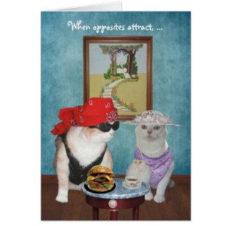 Grappige Katten/Katten Valentijn/Jubileum Briefkaarten 0