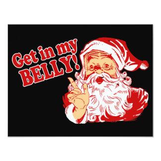 Grappige Kerstkaarten 10,8x13,9 Uitnodiging Kaart