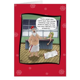 Grappige Kerstkaarten: De ongehoorzame en Regels Kaart