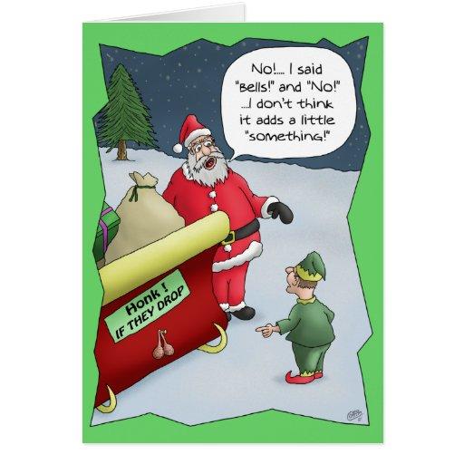 Grappige Kerstkaarten Hard van Hoorzitting Kaart