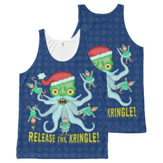 Grappige Kerstmis geeft Kringle de Kerstman vrij All-Over-Print Tank Top