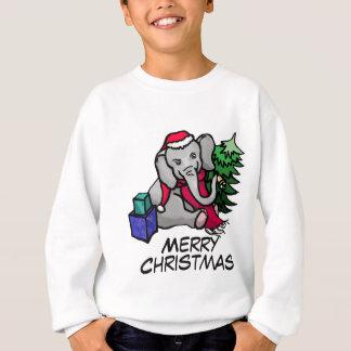 Grappige Kerstmis van de Olifant van de Cartoon Trui