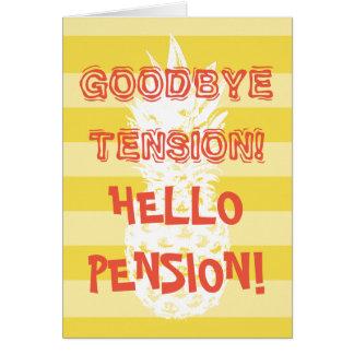 Grappige pensioneringskaart met voor kaart