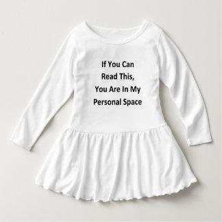 grappige persoonlijke ruimtehumor baby jurk