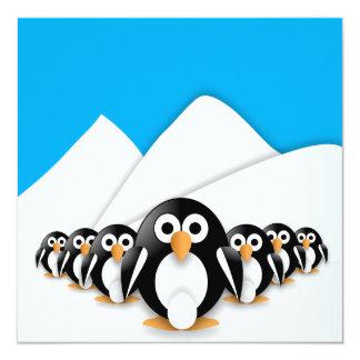 Grappige pinguïnen persoonlijke aankondiging