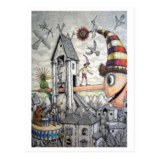 Grappige Pinocchio Briefkaart