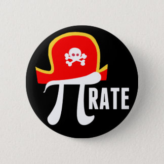 Grappige Piraat Ronde Button 5,7 Cm