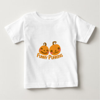Grappige Pompoenen Baby T Shirts
