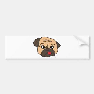 Grappige Pug Bumpersticker