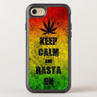 Grappige Reggae houdt Kalm en Rasta op Koel OtterBox Symmetry iPhone 7 Hoesje