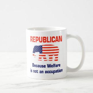 Grappige Republikein - Welzijn Koffiemok