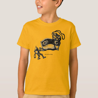 Grappige robots die de tekening van de t shirt