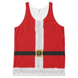Grappige Rode Feestelijke Kerstmis van het Kostuum All-Over-Print Tank Top
