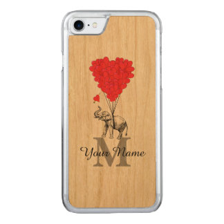 Grappige romantische olifant 	Carved iPhone 8/7 hoesje