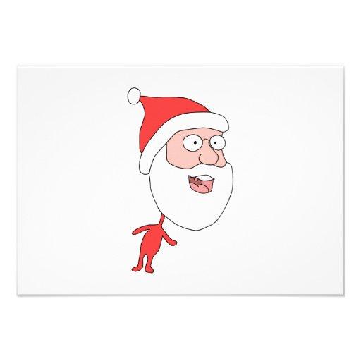 Grappige Santa. Aankondiging