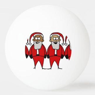 Grappige Santas Pingpongbal