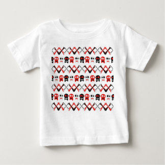 Grappige Schedel met gekruist bot kleurrijk Baby T Shirts