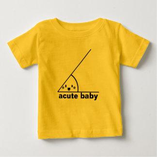 Grappige scherpe geeky hoek baby t shirts
