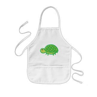 Grappige Schildpad op Wit Kinder Schort