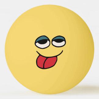Grappige Smiley die uit de Bal van de Pingpong Pingpongbal