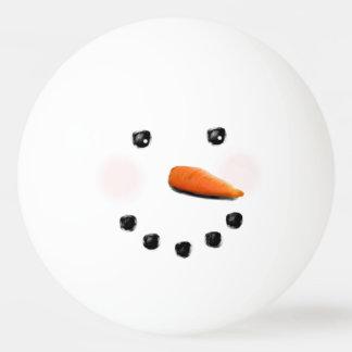 grappige sneeuwman pingpongbal