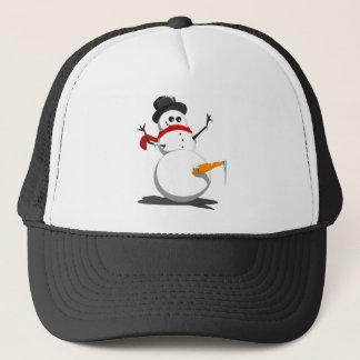 Grappige Sneeuwman Trucker Pet