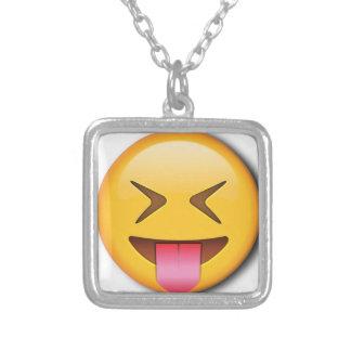 Grappige Sociale Emoji Ketting Vierkant Hangertje