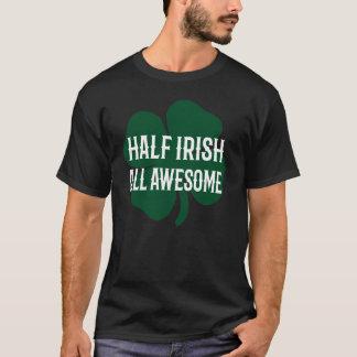 Grappige St. Patrick half Ierse Dag T Shirt