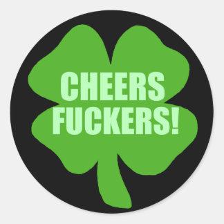 Grappige St Patricks Dag het Iers Ronde Stickers