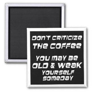 Grappige van de de humorkeuken van koffiespreuken magneet