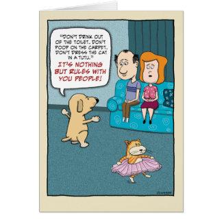 Grappige Verjaardag: De Regels van de hond Kaart