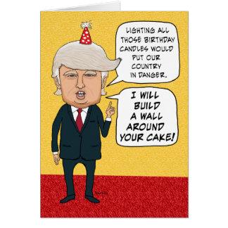 Grappige Verjaardag: Donald Trump Builds een Muur Briefkaarten 0