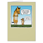 Grappige verjaardagskaart: Weinig Paard