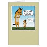 Grappige verjaardagskaart: Weinig Paard Kaarten