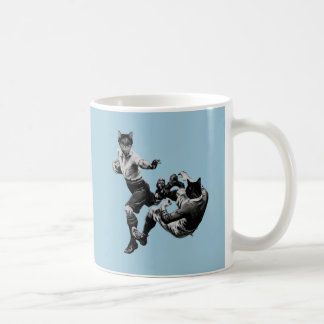 grappige vintage rugby het spelen katten koffiemok
