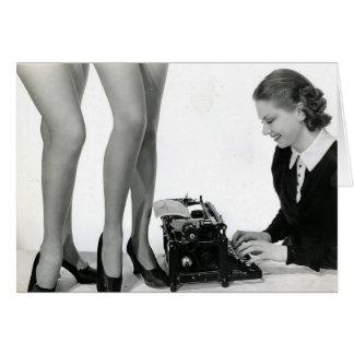 Grappige Vintage Secretaresse Kaart