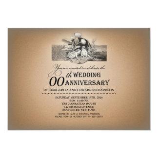 grappige vintage typografische 12,7x17,8 uitnodiging kaart