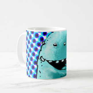 grappige vreemde gezichtscartoon koffiemok