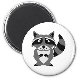 Grappige wasbeer koelkast magneet
