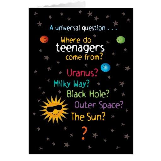 Grappige zoete ruimte tiener verjaardag kaarten zazzle - Tiener om ruimte ...