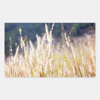Gras Rechthoekige Sticker