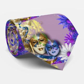 Gras van de maskers mannen mardi van de maskerade persoonlijke stropdas