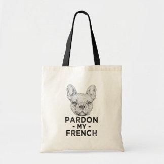 Gratie mijn Franse, grappige Franse buldogzak Draagtas